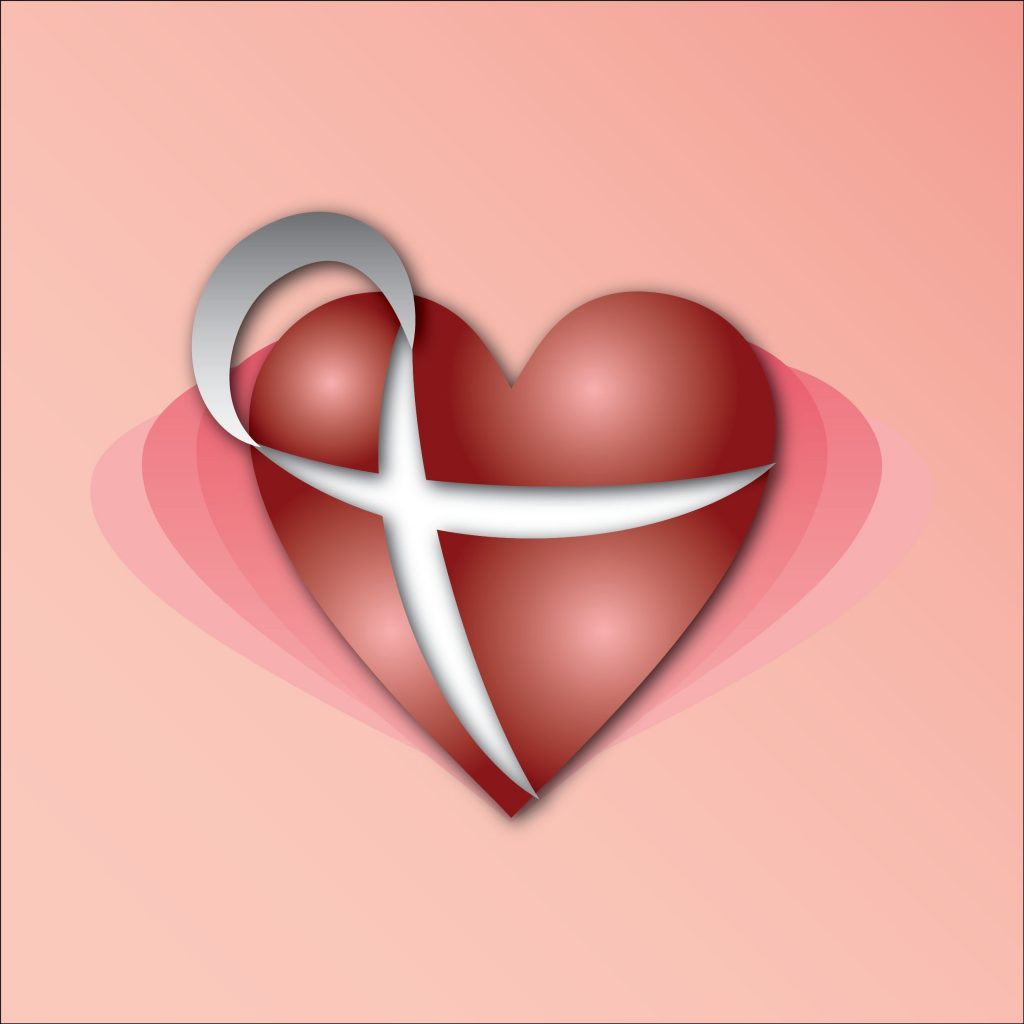 An illustration of an HIV/AIDS ribbon shaped into a heart. A fitting sentiment for inspirational HIV quotes.