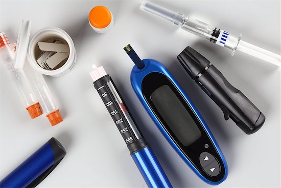 Testing equipment used to find out a patient's diabetes risk.